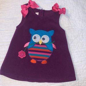 🍭2/$20🍭 Bonnie Baby Purple Owl Dress